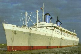 The Australis leaving Southampton in 1977.