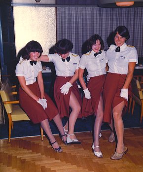 These photos were taken by ex-stewardess Vicky Penrice.